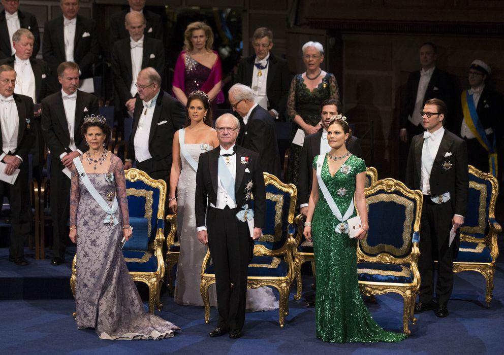 Foto: La familia real sueca, durante la ceremonia de entrega de los Premios Nobel