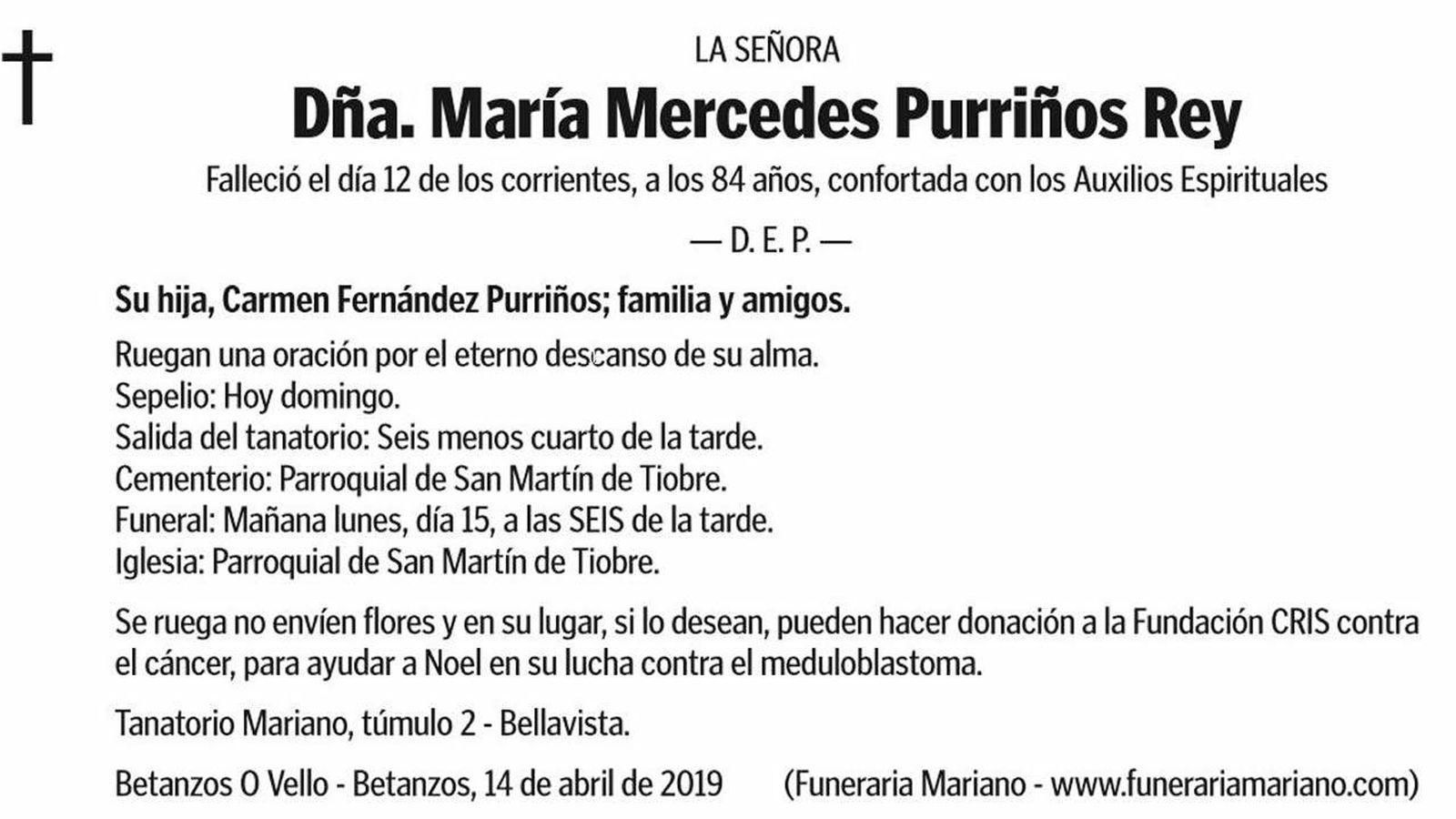 Foto: La esquela de María Mercedes es todo un ejemplo de solidaridad (Foto: Twitter)