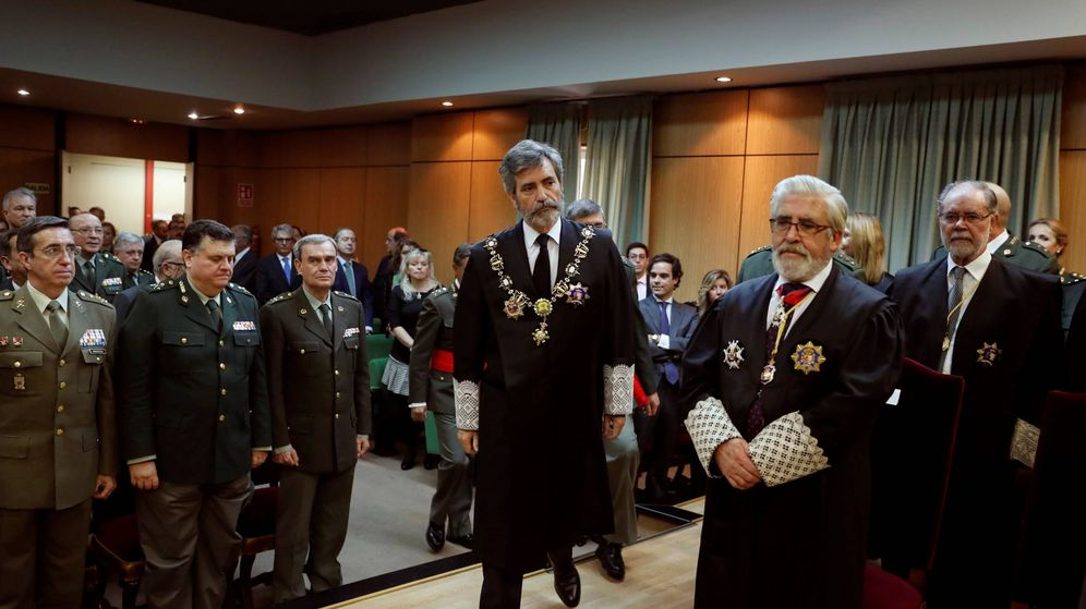 Foto: Carlos Lesmes, todavía presidente del Supremo y del Poder Judicial, el pasado 7 de noviembre en Madrid. (EFE)