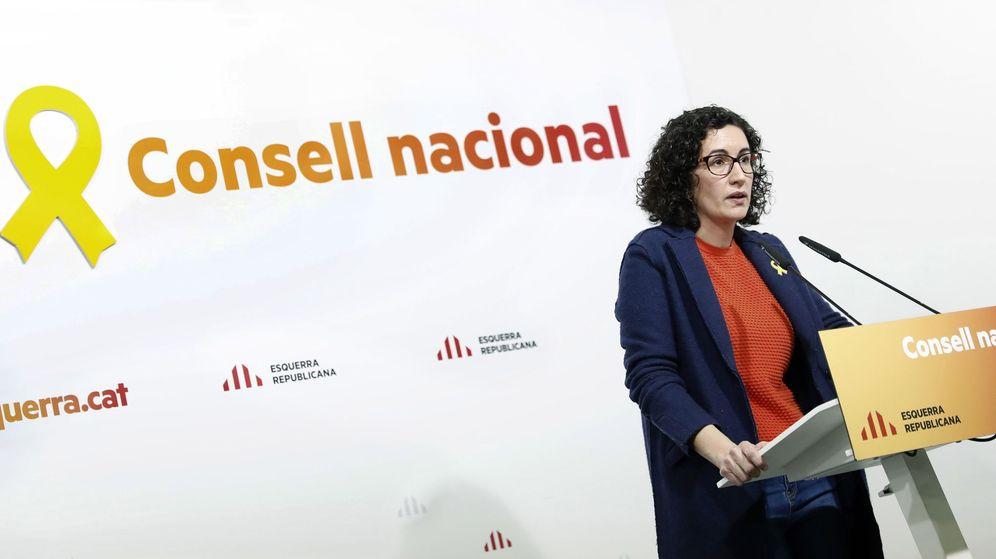 Foto: La secretaria general de ERC, Marta Rovira, durante su intervención en la reunión del Consell Nacional del partido. (EFE)