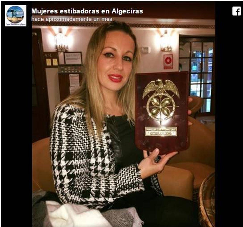 Raquel Saavedra en una imagen publicada en el perfil de Facebook de @mujeresestibadorasenalgeciras
