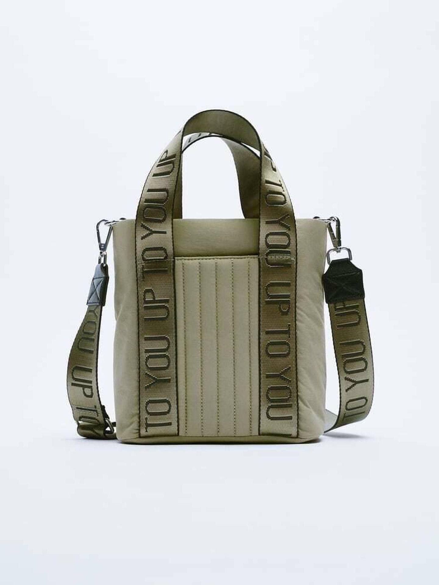Un bolso acolchado de Zara. (Cortesía)