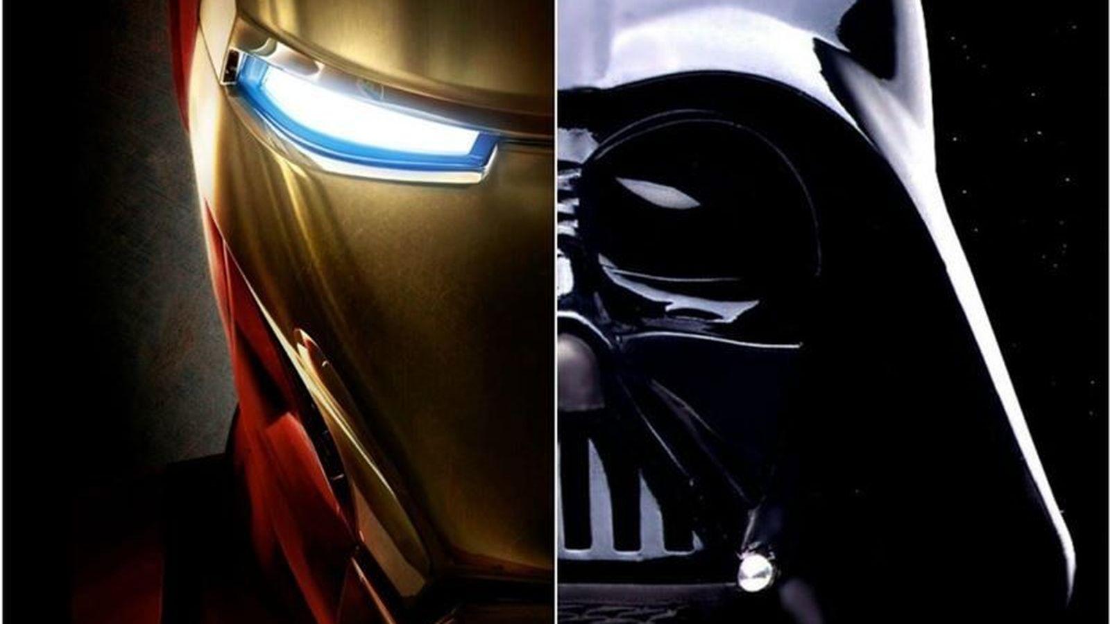 Foto: Iron Man y Darth Vader
