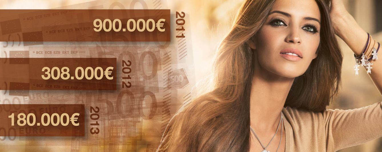 Foto: Los ingresos en publicidad de Sara Carbonero han bajado desde 2010 (Fotomontaje: Vanitatis)