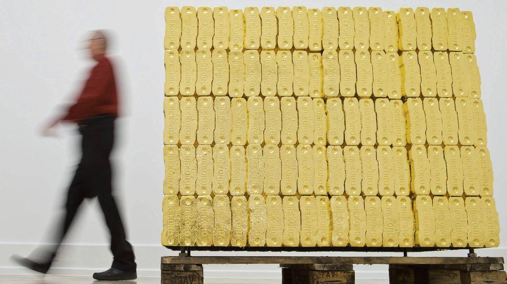 Foto: Palet de lingotes de oro (Efe)