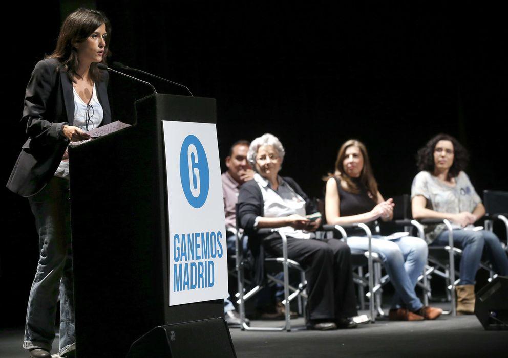 Foto: La periodista Olga Rodríguez durante la presentación oficial de Ganemos Madrid. (EFE)