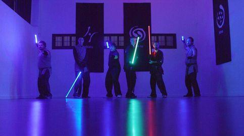 Entrenando 'padawans' en un gimnasio de Madrid