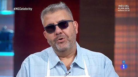 Flo se sube a la calva de Santiago Segura en 'Masterchef Celebrity'