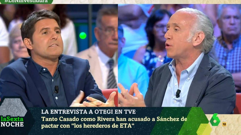 Jesús Cintora y Eduardo Inda, en 'La Sexta noche'. (Atresmedia).