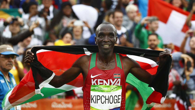 El atleta keniata Eliud Kipchoge ganó la maratón olímpica de 2016. (EFE)