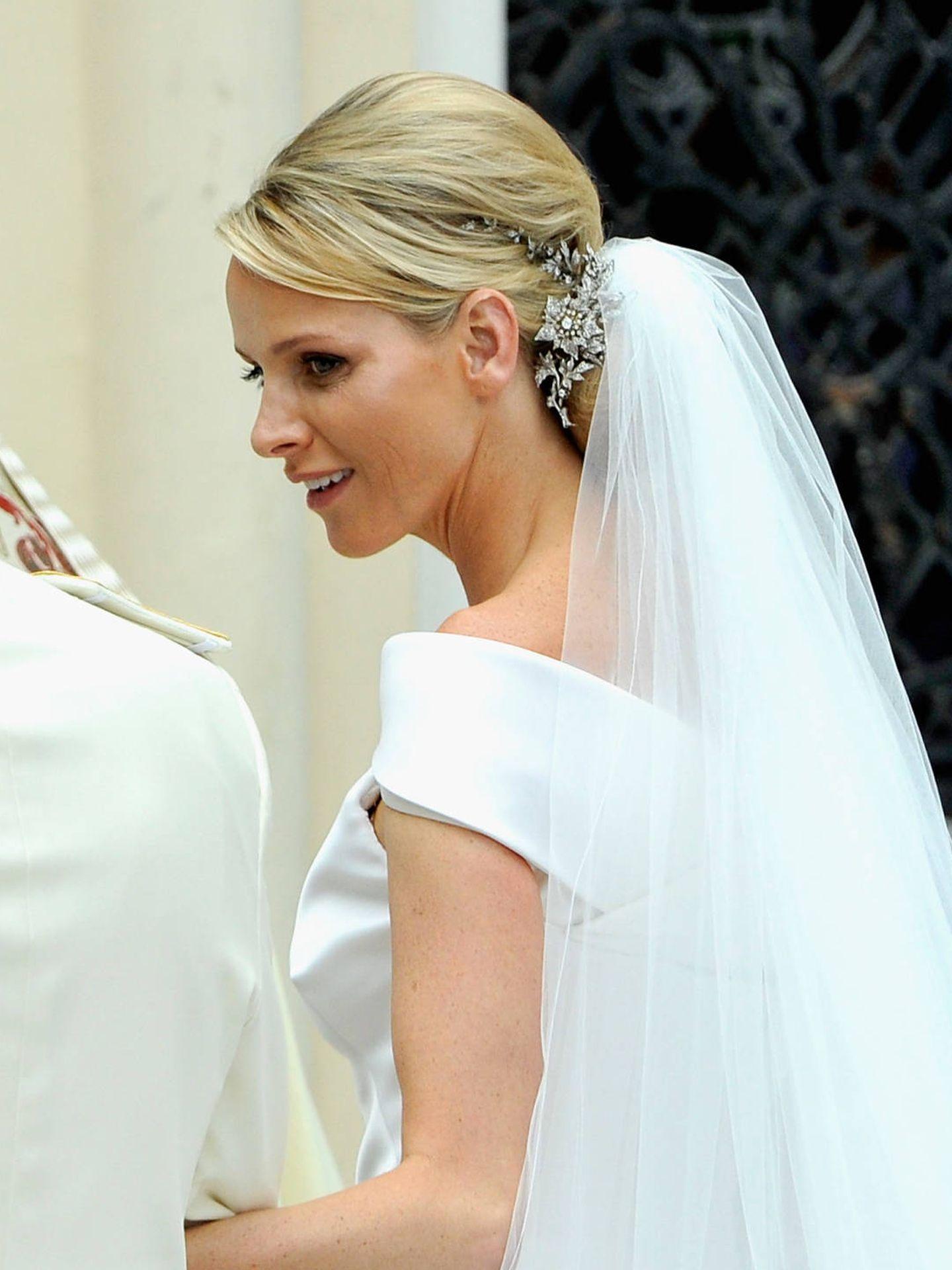 Charlène de Mónaco, el día de su boda. (Getty)