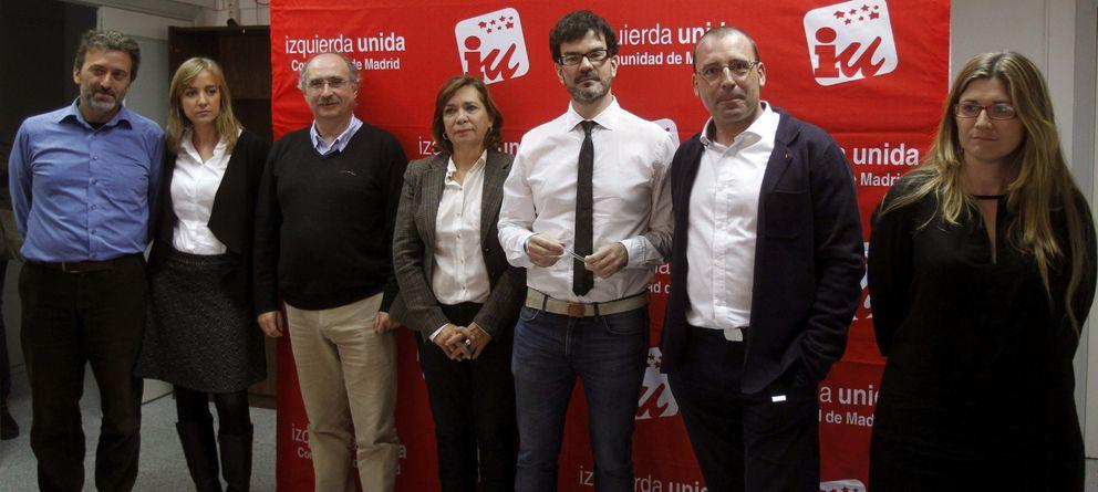 Foto: Candidatos a las primarias de IU a la comunidad y alcaldía de Madrid. (Efe)
