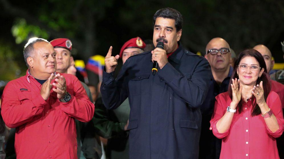 Foto: El presidente de Venezuela Nicolás Maduro celebra la victoria tras conocerse los resultados. (Reuters)
