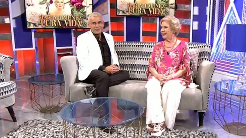 Jorge Javier Vázquez y María Jiménez, en 'Sábado Deluxe'. (Telecinco)