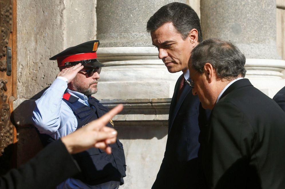 Foto: Pedro Sánchez y Quim Torra, antes de su reunión del pasado 6 de febrero, en Barcelona. (EFE)
