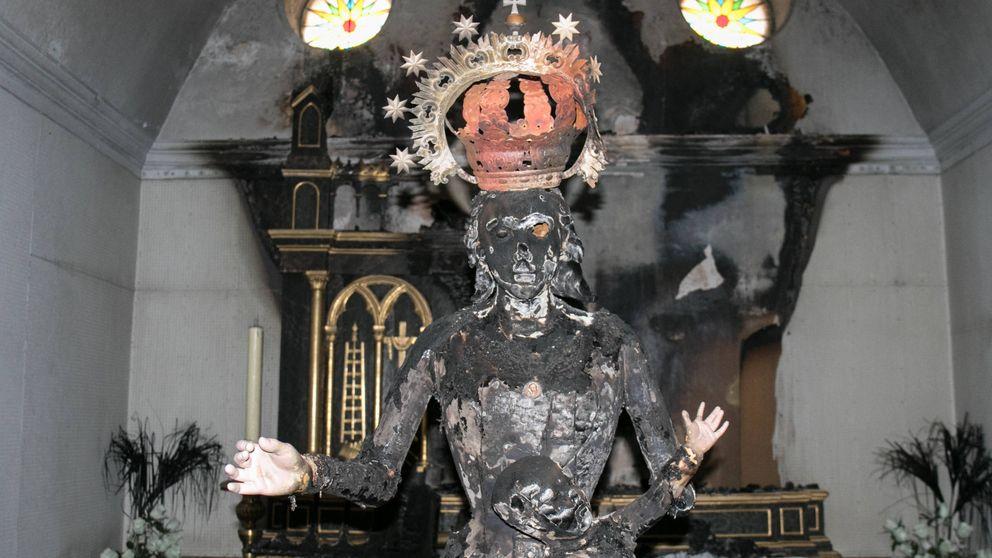 El vándalo islamista que ha quemado Vírgenes y decapitado un santo en Navarra