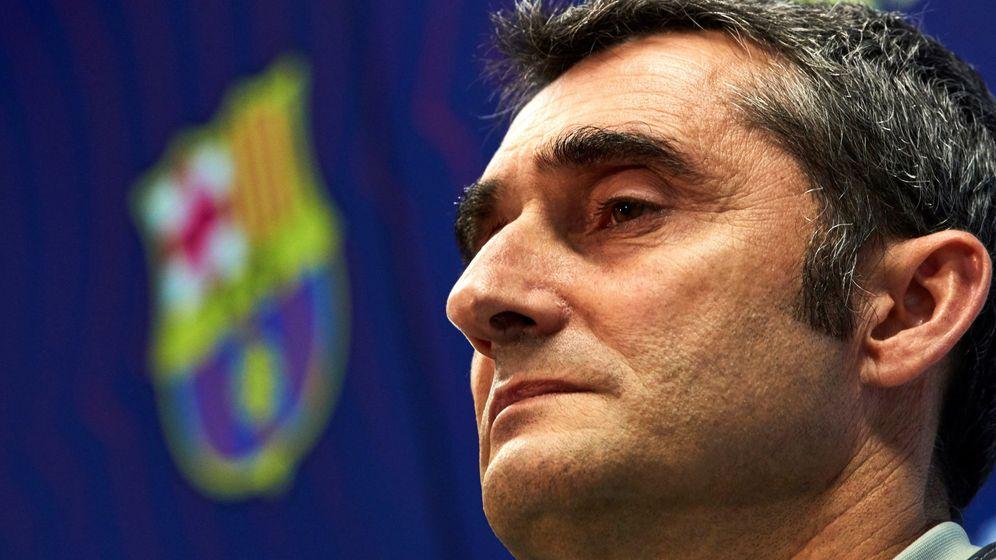 Foto: Valverde en la rueda de prensa de este lunes. (EFE)