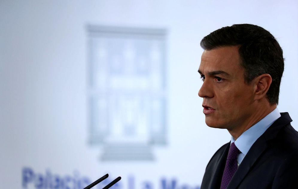 Foto: Pedro Sánchez, el pasado 4 de febrero durante su comparecencia extraordinaria en la Moncloa. (Reuters)