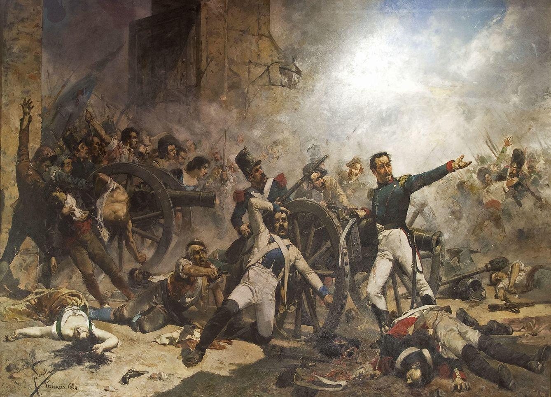 Foto: 'Defensa del Parque de Artilleria de Monteleón' de Joaquín Sorolla (1884).