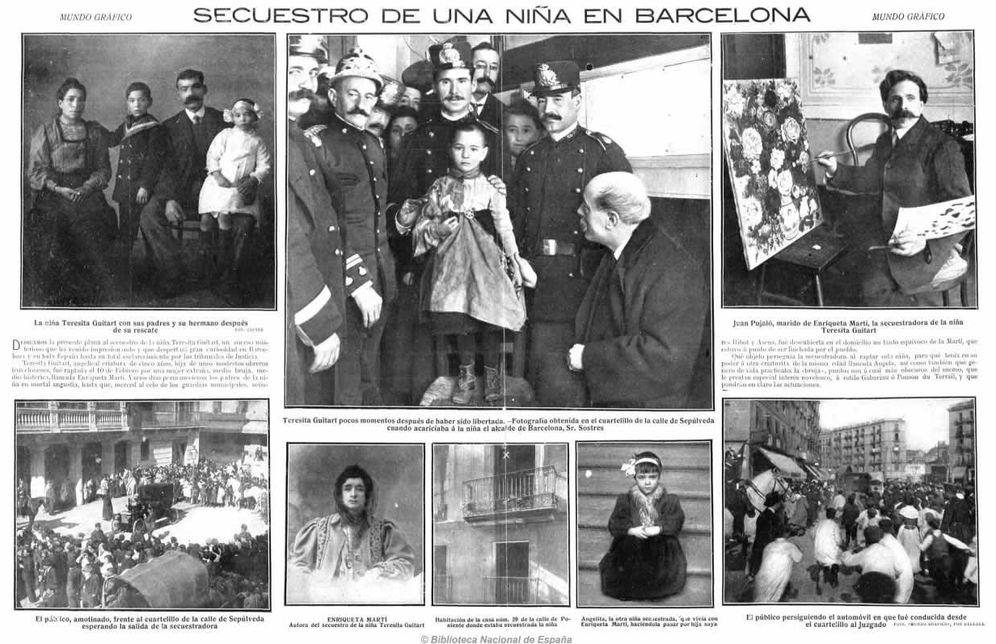 Foto: Un recorte de periódico informa del secuestro supuetamente ejecutado por Enriqueta Martí