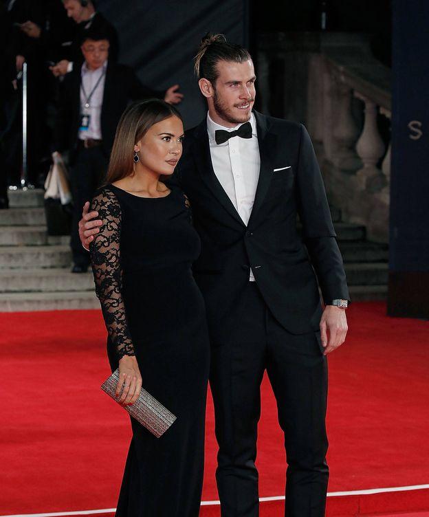Foto:  Gareth Bale y su pareja, Emma Rhys-Jones. (Getty)