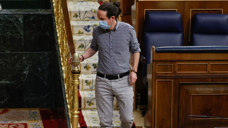 Pablo Iglesias, en su labor como vicepresidente segundo del Gobierno en el Congreso de los Diputados. (EFE)