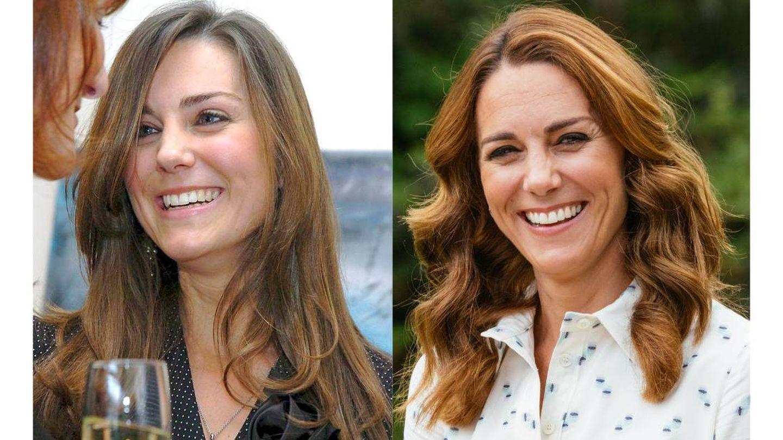 Kate Middleton, en 2005 y en 2020. (Cordon Press)
