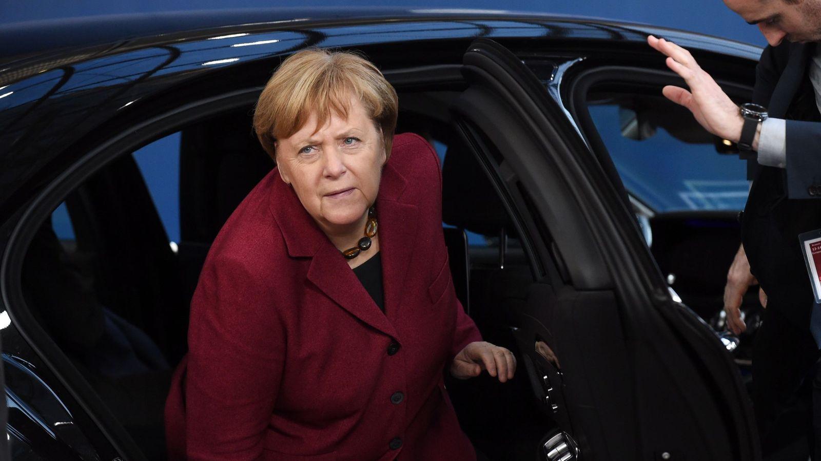 Foto:  La canciller alemana, Angela Merkel, a su llegada la reunión de líderes de la UE, en Bruselas, el 13 de diciembre de 2018. (EFE)