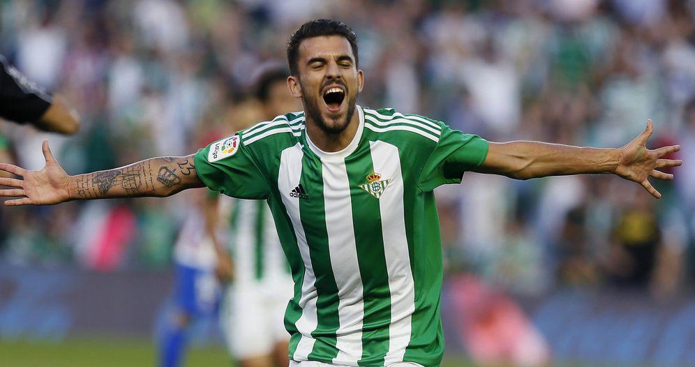 Foto: Dani Ceballos celebra un gol marcado con el Betis. (EFE)