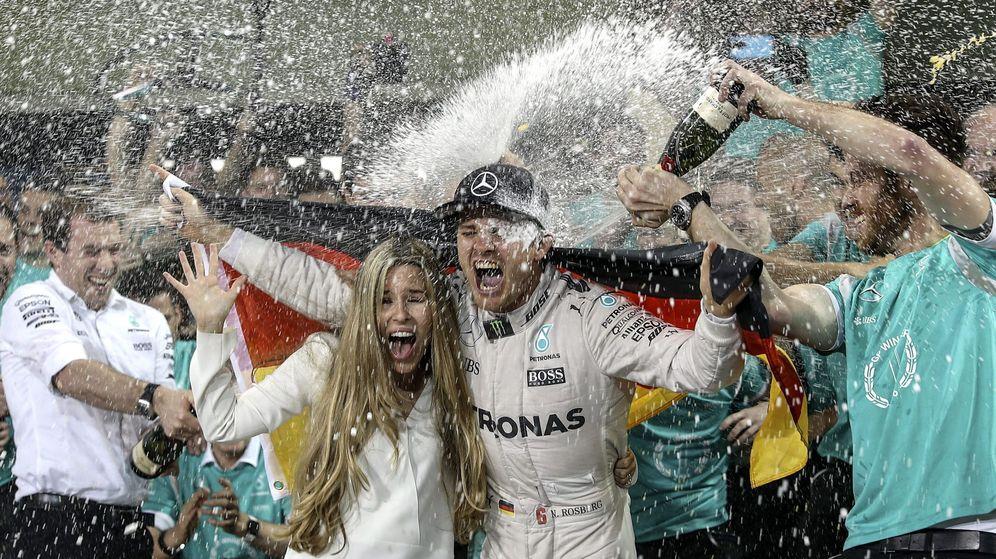 Foto: Así fue la celebración de Rosberg, nuevo campeón de la Fórmula 1