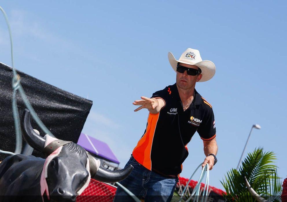 Foto: Colin Edwards en un evento celebrado en Austin (MotoGP).
