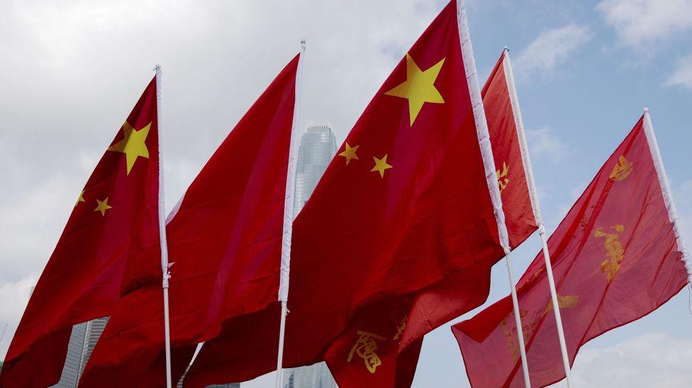 Foto: Banderas de China (Efe)