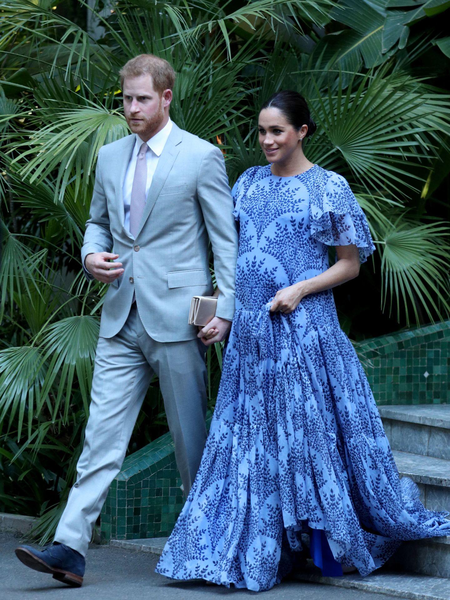 Los duques de Sussex, en Marruecos. (Reuters)