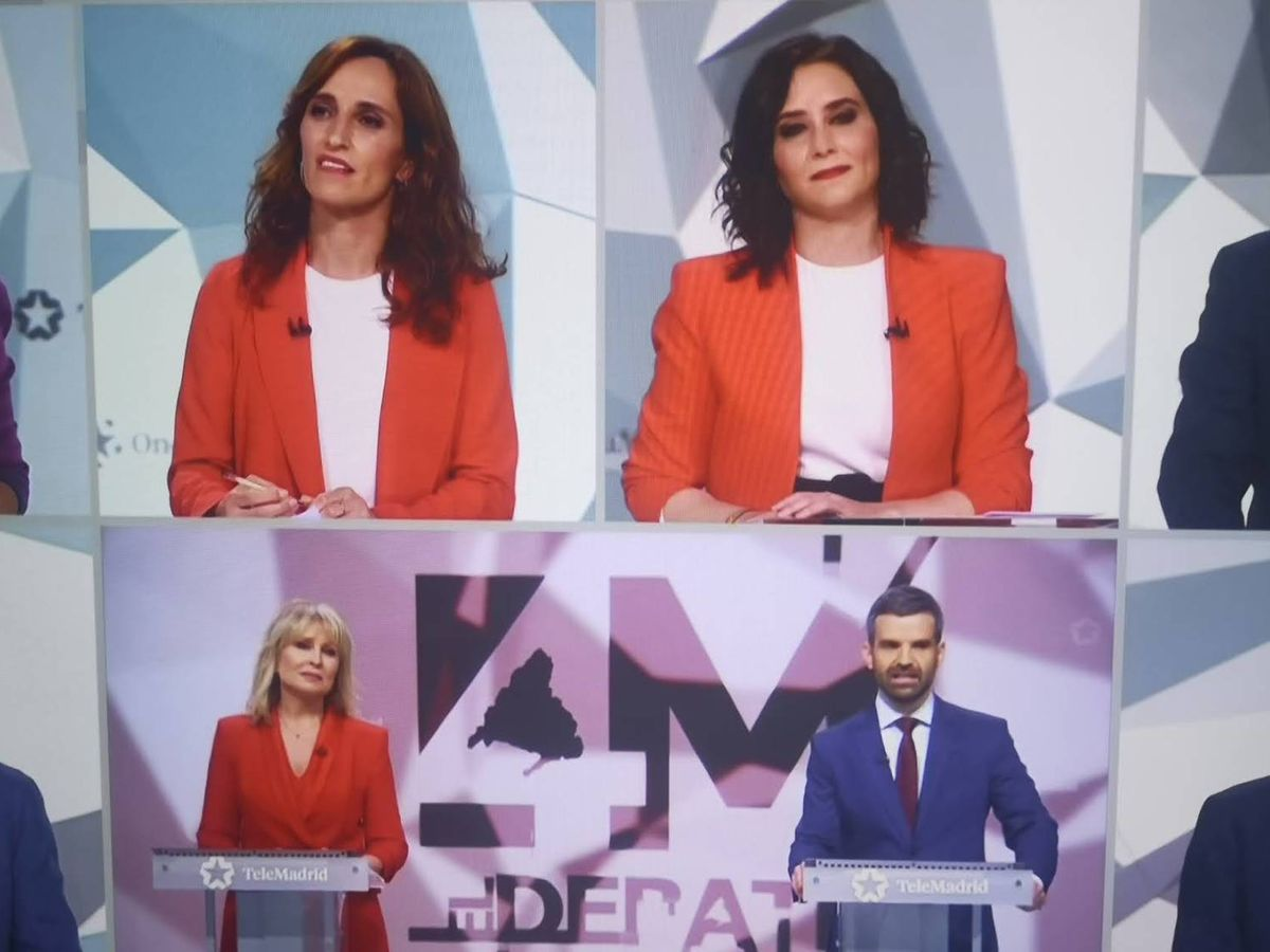 Foto: Imagen del debate en Telemadrid.