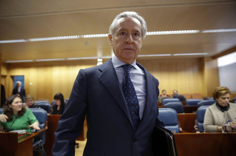Foto: Miguel Blesa, cuando compareció en la Asamblea de Madrid. (EFE)