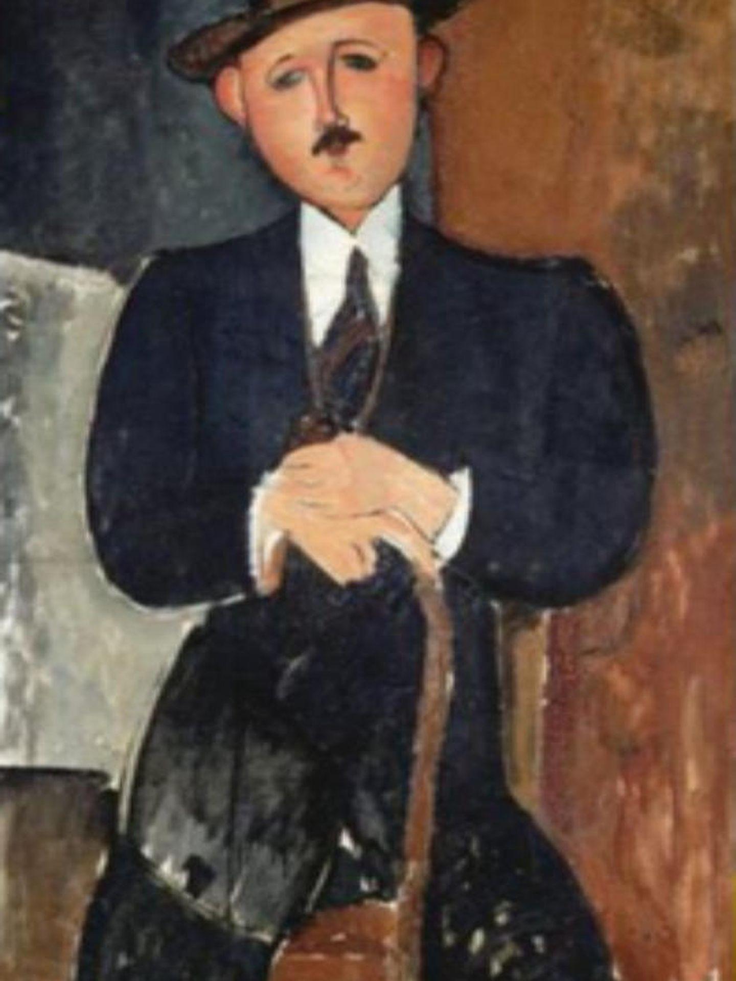 'Hombre sentado con bastón', de Modigliani