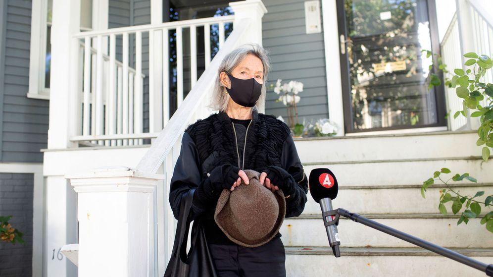 Foto: La poeta estadounidense Louise Glück, el pasado 8 de cotubre (REUTERS)