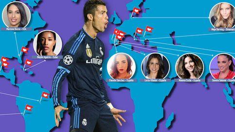 Cristiano Ronaldo y el mapamundi de sus conquistas