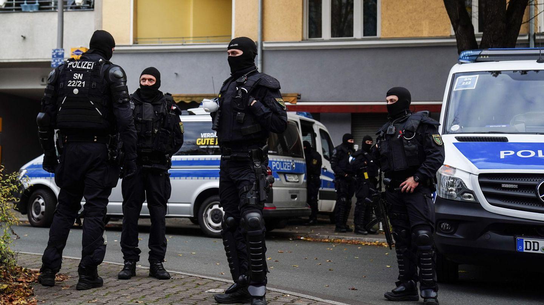 Dispositivo policial en Dresde. (Reuters)