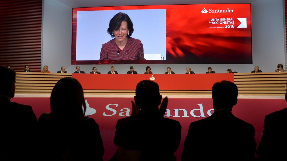 Foto: Ana Botin, en la presentación de las cuentas del Santander. (Reuters)