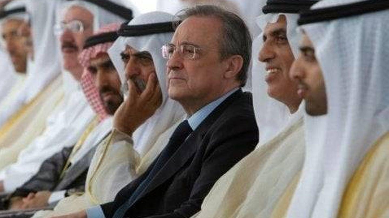 Florentino Pérez, durante una de sus visitas a Arabia Saudí.