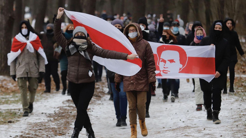 Protestas en Minsk (Reuters)