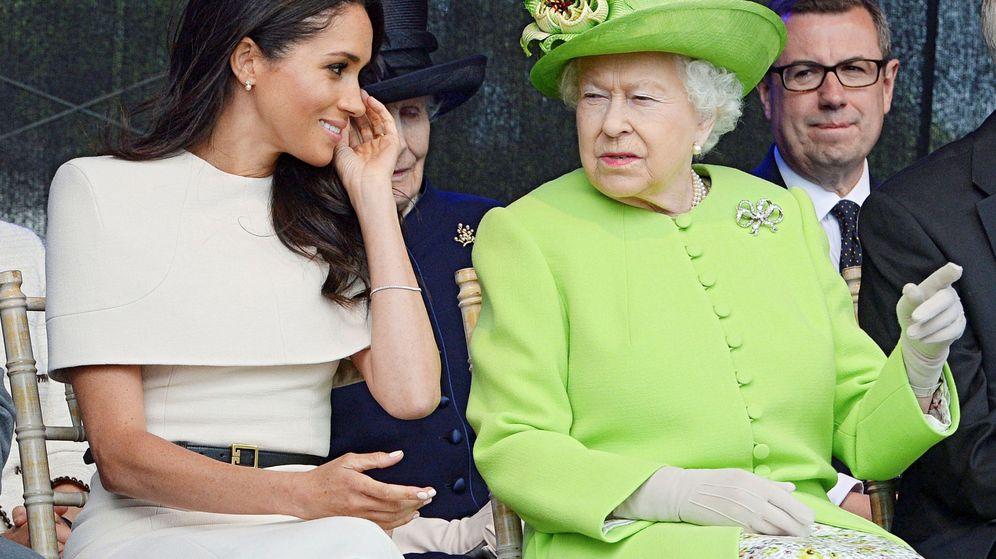 Foto: La reina Isabel y la duquesa de Sussex. (Reuters)
