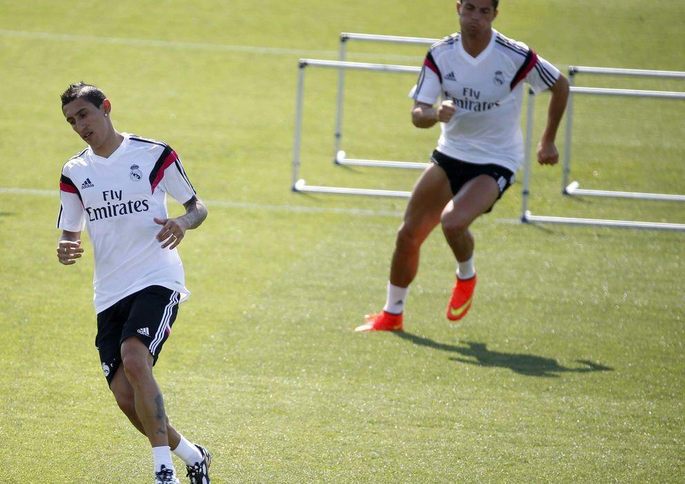 Foto: Ángel di María, durante un entrenamiento con el Real Madrid.