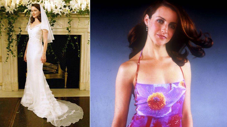 Charlotte con su segundo vestido de novia y un modelo de 'chica bien'. (Getty)