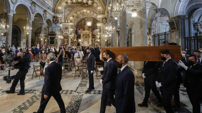 El funeral en la basílica de Santa Maria in Aracoeli. (EFE)