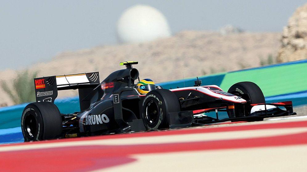 Foto: Bruno Senna fue el único HRT que pudo tomar parte en los entrenamientos libres de Bahréin 2010