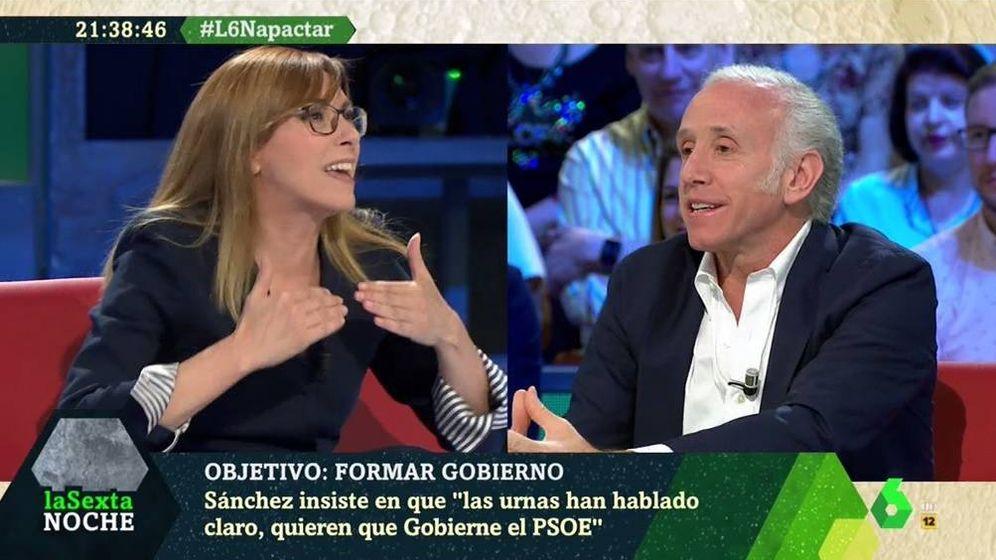 Foto: Angélica Rubio y Eduardo Inda, en 'La Sexta noche'. (Atresmedia).