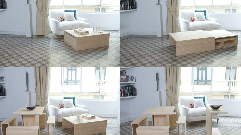 Un mueble que ser convierte en varios. Esa es la apuesta de la artista Itziar Guzmán.