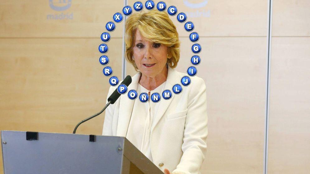 Foto: Esperanza Aguirre, invitada de 'Pasapalabra'. (EFE)